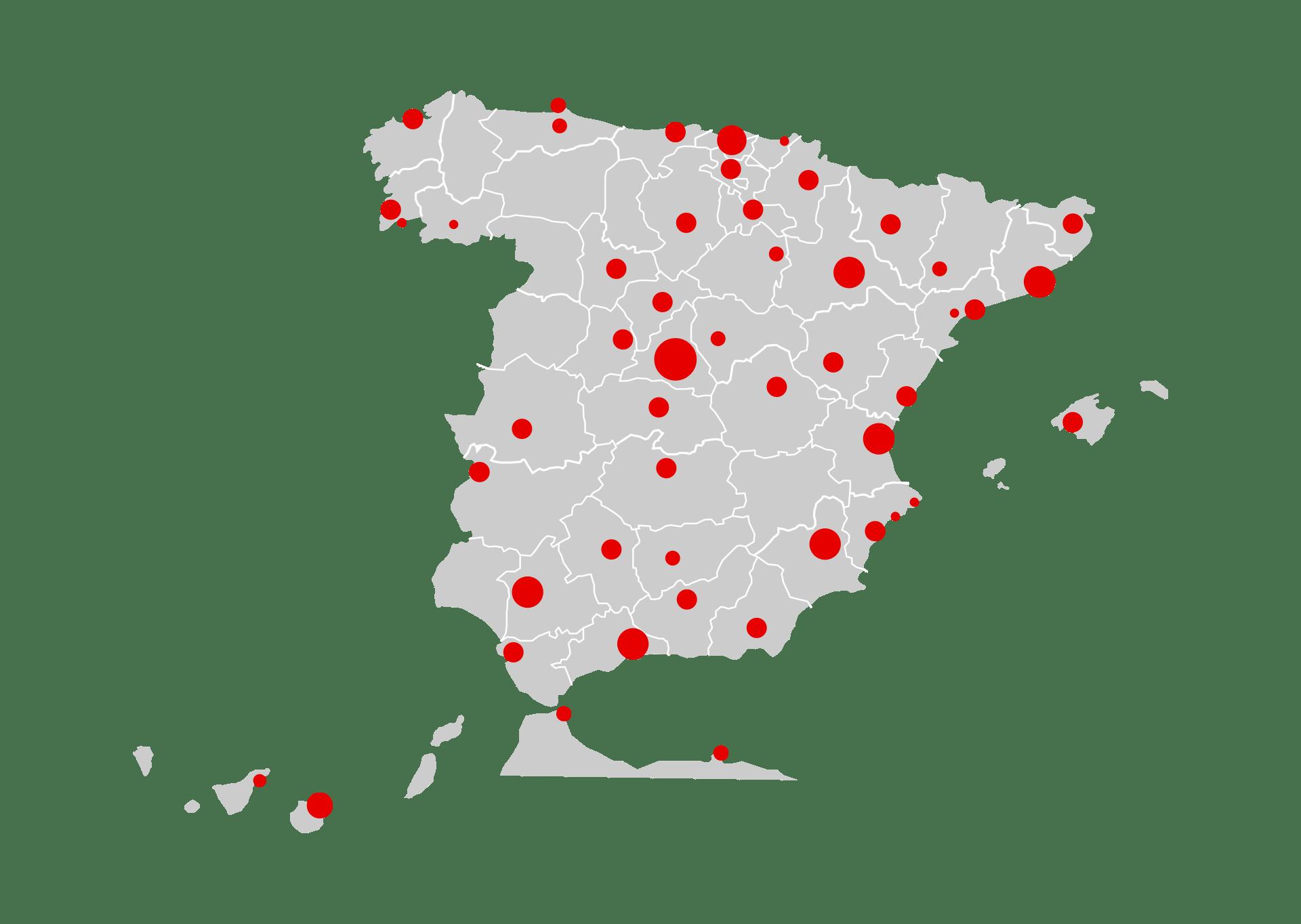 Mapa 5G de Vodafone