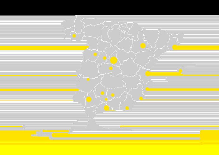 Mapa 5G de Yoigo