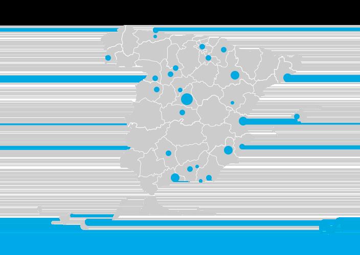 Mapa 5G de Movistar