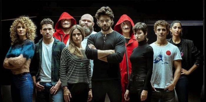 Toda la banda de La Casa de Papel en su cuarta temporada