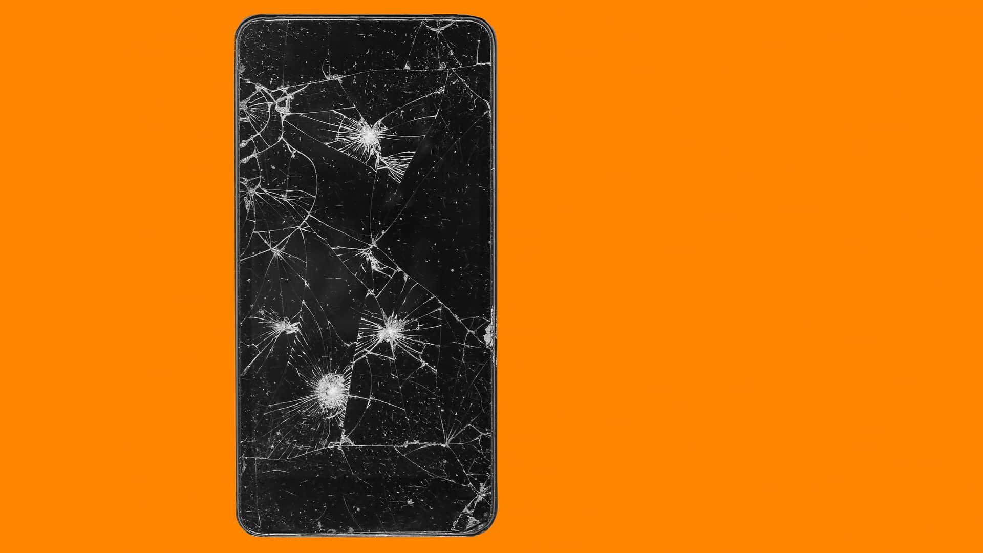 Pantala rota de smartphone reperesenta averías esukaltel