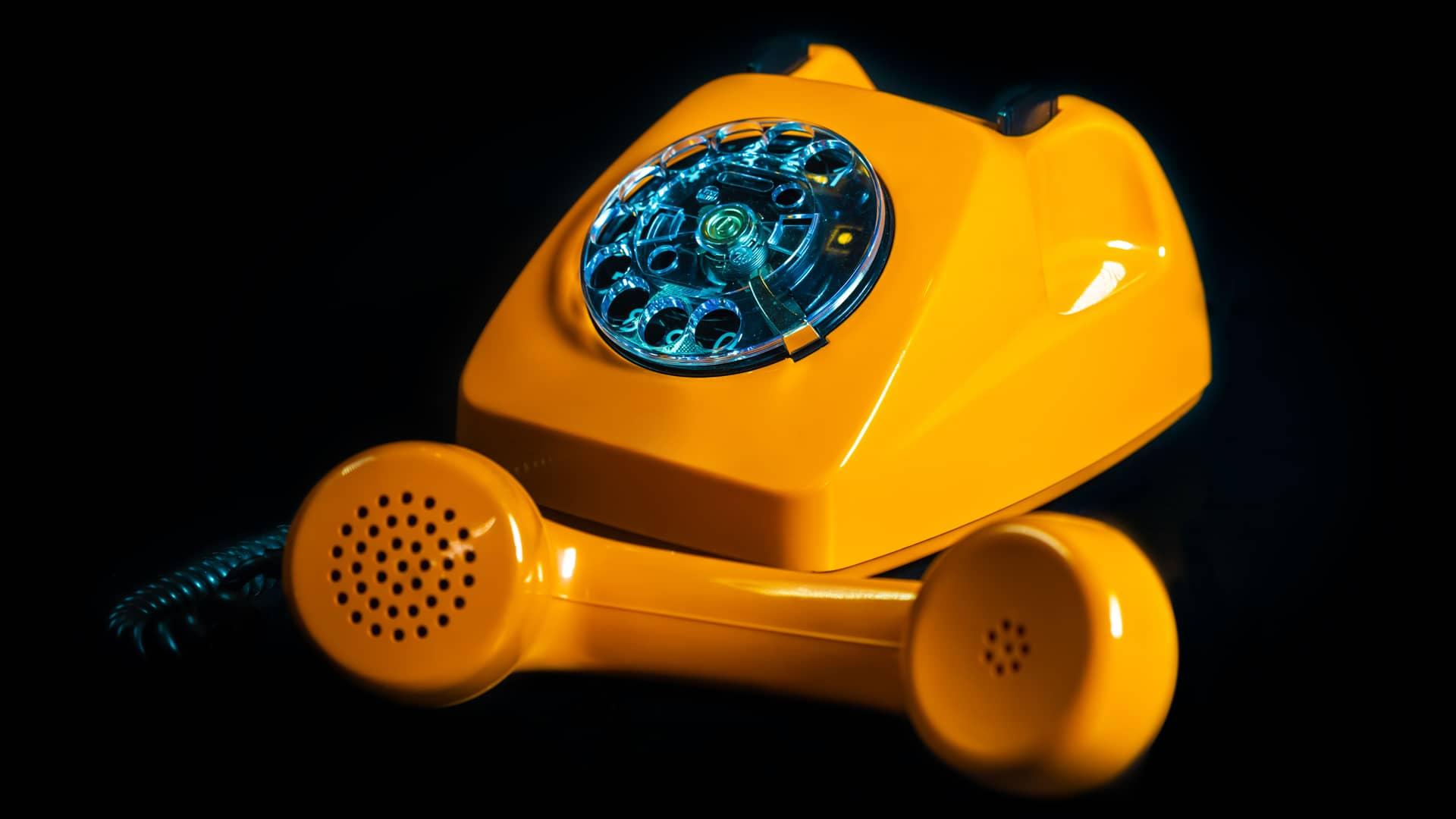 Teléfono fijo simboliza cuota de línea euskaltel