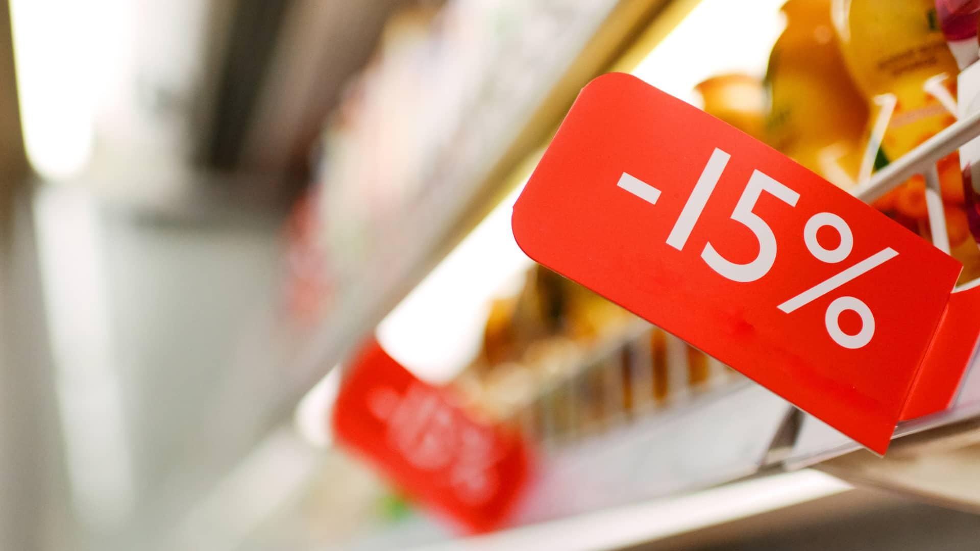 Descuento en tienda simboliza ofertas de lowi
