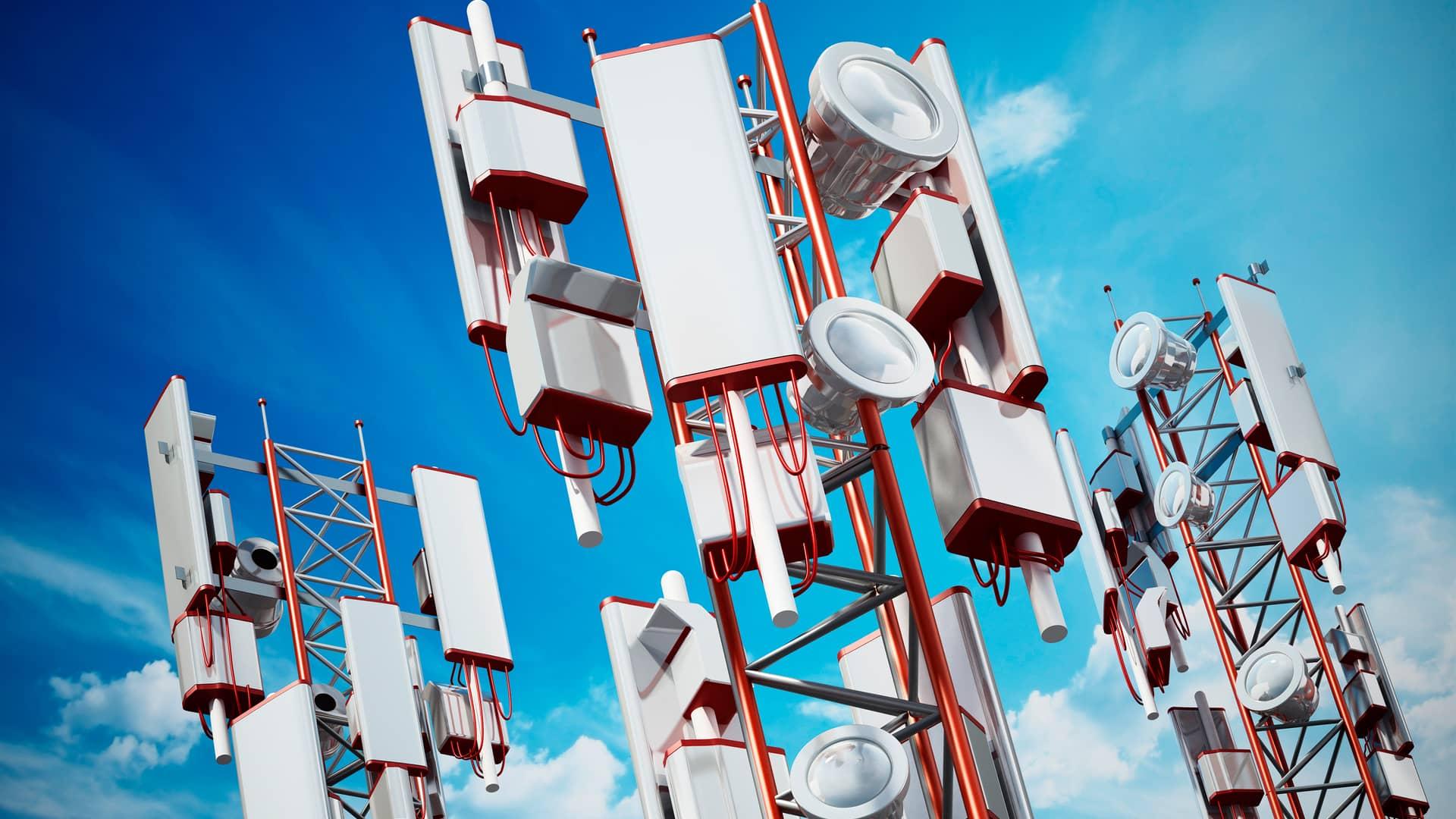Torres de antena de cobertura 5g de pepephone