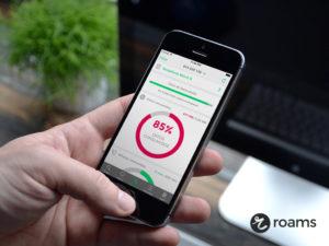 Aplicación Roams evita exceso de datos controlando el consumo