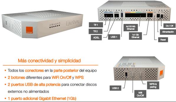 características router livebox 2.1