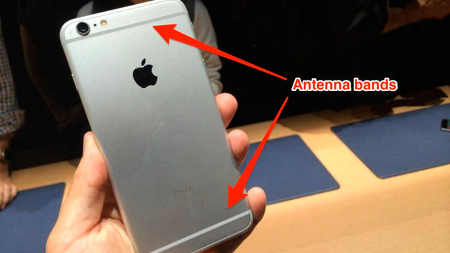 Flechas señalan dónde están las antenas del iPhone