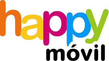 Logo de happy móvil