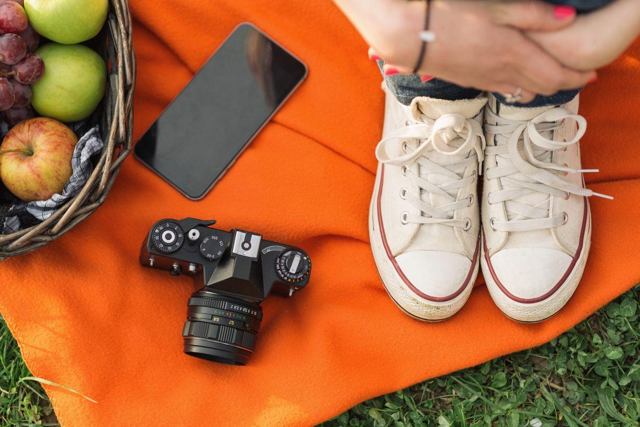 De picnic con cobertura Orange