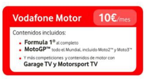 Paquetes Vodafone ONE TV Motor