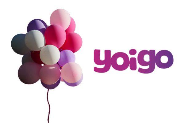 Globos de celebración por las ofertas Yoigo