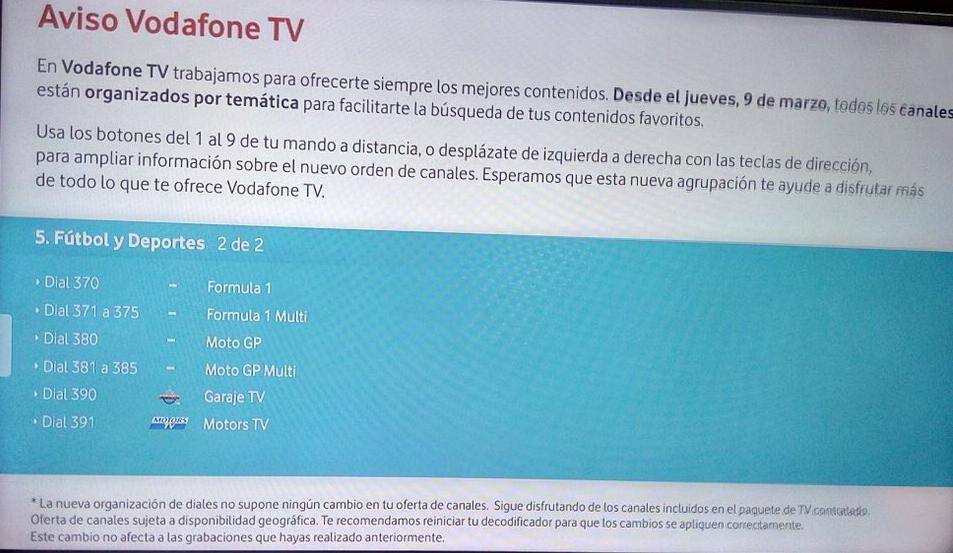 vodafone confirma que emitirá el mundial de formula 1 2017 a sus clientes