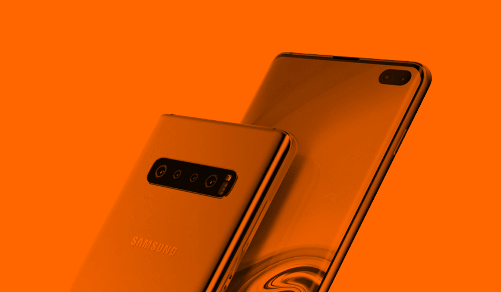 Orange Samsung Galaxy S10 Plus
