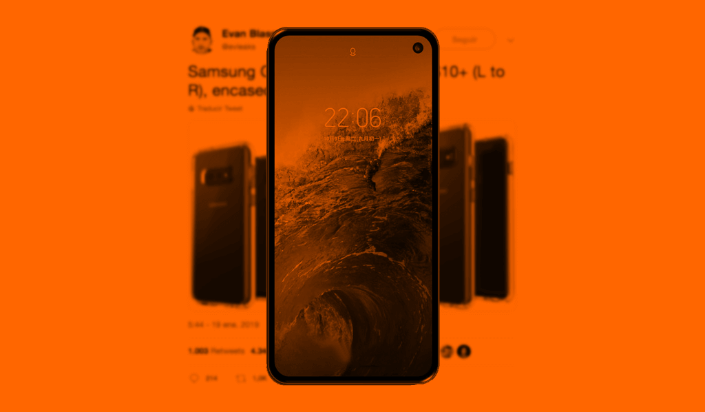 Orange Samsung Galaxy S10E